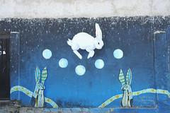 Rabbit Moon Oaxaca Mexico Mural (Ilhuicamina) Tags: luna conejo rabbit moon sansebastianetla oaxaca mexico murals art paintings