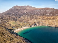 Keem Bay and beach (mickreynolds) Tags: keem beach wildatlanticway ireland comayo atlantic ocean mountain brown