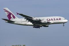 A7-API / Airbus A380-861 / 235 / Qatar Airways (A.J. Carroll (Thanks for 1 million views!)) Tags: a7api airbus a380861 a380800 a380 a388 380 388 235 gp7270 qatarairways oneworld bglr 06a14a london heathrow lhr egll 09l