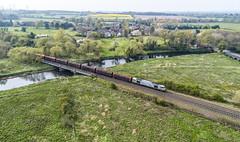 60066 passing Lea Marston (robmcrorie) Tags: 6e08 steel wolverhampton immingham 60066 lea marston river tame bridge warwickshire phantom 4
