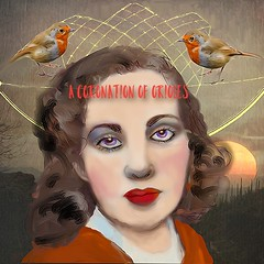 A Coronation of Orioles (Hotel Midnight) Tags: mobiledigitalart mystery mythology mobile ipad iart ipainting contemporaryart collage surrealism stories sketchbook stamps popsurreal postcards painting oiseaux birds portrait