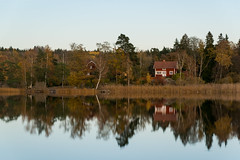 Marielund, Sweden (19-10-2018) (TijmOnTour) Tags: lake forest trees water leaves colour fall autumn nature outside uppland cabin house reflection landscape