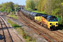 Colas Rail 70817 6E32 Preston to Lindsey Tanks. (Powerhaul70Pey) Tags: colasrail 70817 6e32 preston lindsey tanks lostockhallstation freight train locomotive railway rail railroad