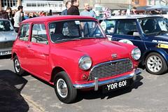 1960 Austin Mini YOR601 Brooklands Mini Day March 2019 (davidseall) Tags: 1960 austin mini car red mk1 yor601 yor 601 classic original old shape style great british brooklands day march 2019 weybridge surrey uk