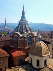 Domes of Turin (AMShaw1991) Tags: cappelladellasindone northernitaly turin cupoladelduomo moleantonelliana architecture oldbuildings