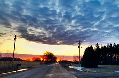 Sunrise (kirsten.eide) Tags: vacation nature roads country weather iphone8 clouds iphone wisconsin colors sunrise
