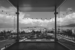 The Glass Chamber (panos_adgr) Tags: nikon d7200 dark mood urban architecture cityscape photography monochrome bw lines geometry building stavros niarchos cultural center athens attica greece daylight contrast glass metal windows