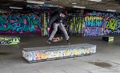 Mid Air (daveseargeant) Tags: skateboarder skateboard south bank london street graffiti leica x tip 113 colour urban city skater