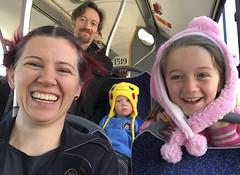 Three Out Of Four (evaxebra) Tags: poland polska 2019 vacation ewa luna bus transportation riding four family group selfie groupie ash ryan
