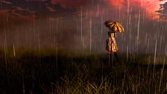 Sun's gonna shine again someday (Tevor Z) Tags: secondlife rain rainy sunshower roxy umbrella