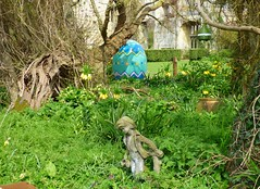 Happy Easter Everyone (nannyjean35) Tags: boy statue castle flowers easter egg tree twigs branches