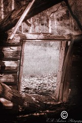 Shadows of Long Ago.... (E.B Anderson Photography) Tags: abandoned shadows ghosttown logs colorado vignetting atmosphere