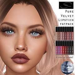 Stellar Pure Velvet Lipstick for Genus (Lexi★Morgan) Tags: stellar leximorgan lipappliers lipstick lipgloss secondlife avatar genus meshhead lips makeup