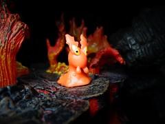 Slugma (ridureyu1) Tags: pokemon pocketmonster nintendo jfigure toy toys actionfigure toyphotography sonycybershotsonycybershotdscw690