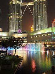 Kuala Lumpur, Malaysia. (anyediahmuthia) Tags: olympus fixedlense twintowers kualalumpur vacation light night malaysia