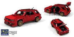Subaru Impreza WRX Wagon (lego911) Tags: subaru impreza wrx hatch wagon 1995 1990s wrc rally turbo 4x4 awd 4wd boxer jdm japan japanese auto car moc model miniland lego lego911 ldd render cad povray