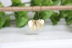 1S7A0631 (joeviejewelry) Tags: earring guitar pick brass smooth blank