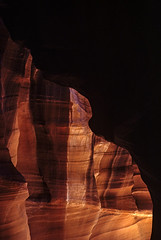 Antelope Canyon (Jim Corwin's PhotoStream) Tags: americansouthwest antelopecanyon coconinocounty navajoindianreservation northamerica southwestunitedstates beautiful beauty beautyinnature canyon canyons carved cave coloradoplateau curved desolation destination environment eroded erosion famousscenic geography geological geology icon iconic inspire inspiring landforms landmark landscape localattractions locallandmark location mothernature mystery naturalworld nature nobody outdoors pattern peaceful photography physicalgeography physicalscience ravine sandstone sculptedwalls sedimentary sightseeing slot slotcanyon southwest stone tranquil travel vacation vertical
