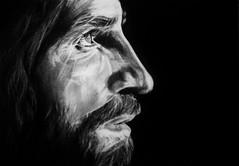 RISEN (Sketchbook0918) Tags: jesus christ christianity resurrection easter lentenseason holyweek emotional portrait charcoal drawing paper sacrifice