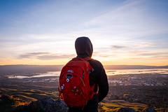 Mission Peak (Chen Yiming) Tags: missionpeak peak fremont california mountain mount dusk selfie