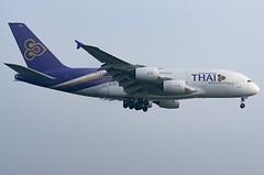 HS-TUF / Airbus A380-841 / 131 / Thai Airways International (A.J. Carroll (Thanks for 1 million views!)) Tags: hstuf airbus a380841 a380800 a380 a388 380 388 131 trent97084 thaiairwaysinternational staralliance qsbl 8852a6 london heathrow lhr egll 09l