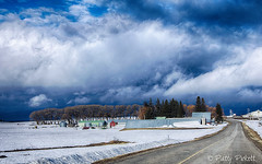 near Ashton Idaho (Pattys-photos) Tags: ashton idaho cloudy farm pattypickett4748gmailcom pattypickett