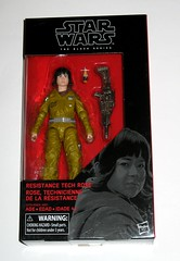 star wars the black series #55 resistance tech rose 6 inch figure red packaging the last jedi basic action figures 2017 hasbro misb a (tjparkside) Tags: rose tico resistance tech star wars black series 6 inch figure red 55 packaging last jedi basic action figures 2018 2017 hasbro blaster pistol weapon weapons finn episode 8 viii eight support crew starfighters tool blasters rifle rifles tlj misb