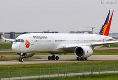 F-WZHI Airbus A350 Philippines (@Eurospot) Tags: fwzhi airbus a350 a350900 toulouse blagnac rpc3508