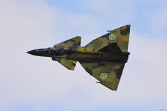 Swedish Air Force Historic Flight, SAAB Sk.37E Viggen (j.ersil) Tags: aircraft military jet fighter trainer nato days airshow ostrava airport swedish air force historic flight saab j37 viggen