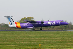 G-ECOH 3 Bombardier Dash 8Q-402 FlyBe Airlines MAN 18APR19 (Ken Fielding) Tags: