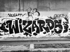 Photo of Wizards Busway Graffiti Cambridge Apr 2019