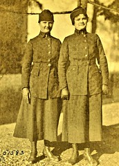 Signal Corps operators, Jane Conway [Wilksbarre PA] Helena Greenlund [Riverside, CA] Unit 6, Tours, France 2-20-19 NARA111-SC-51583 (over 16,000,000 views Thanks) Tags: hellogirls telephoneoperators signalcorps usarmy ww1 worldwari 1919 france