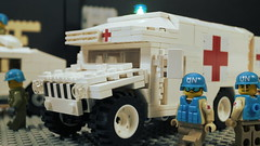 UN Humvee Ambulance (Force Movies Productions) Tags: war weapons wars rifle rifles toy toys troops trooper troopers truck youtube un united officer outbreak photograpgh picture photograph photo photography pose animation asia army scene stopmotion soldier soldiers sinojapanese screenshot second firearms film guns helmet helmets lego legophotograghy zombie zombies custom conflict cool bricks brickfilm brickizimo brickarms brick brickmania minfig minifigure military minifigs movie minifig moc nation nations humvee militarty photoshop legophotography toyphotography