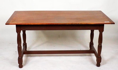 Fine Tiger Maple Stretcher Base Dining Table ($840.00)
