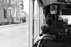 Stadt (tiltdesign2016) Tags: nikonlensseriese50mm118 analogphotography bw kodaktmax400 400200asa pull plustekopticfilm7600ise leicam2 adapter kodakd7611 wuppertal elberfeld sonne kontrast stadt street strase bus