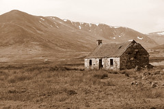 Shepherds Cottage Ruin (eric robb niven) Tags: ericrobbniven scotland sepia cottage hills landscape cycling