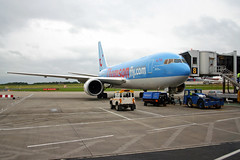 G-BYAB_LBA_14.06.05 (G.Perkin) Tags: aircraft airline airliner airways airport aviation plane spotting fly flight flying commercial transport canon eos graham perkin photography lba leeds bradford egnm international boeing 767 thomson gbyab ramp apron gate