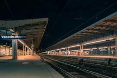 Stazione di Venezia Mestre (cele_mattia) Tags: venezia venice mestre veneto italy night train station lights urban architecture