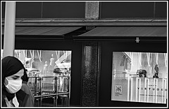 H is for Harrods (Peter Lovelock) Tags: blackandwhite blackandwhitephotography mask masked street streetphotography window shopwindow harrods lovelock peterlovelock peterlovelockcom london