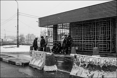17dra0195 (dmitryzhkov) Tags: urban outdoor life human social public stranger photojournalism candid street dmitryryzhkov moscow russia streetphotography people bw blackandwhite monochrome badweather terminal
