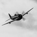 INCOMING P-47D IN BLACK & WHITE
