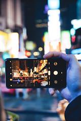 Times Square Lights (Sebastian Ksiazek) Tags: times square new york city lights mobile phone people light stadt lichter reflections reflektionen illumination artistic travel traffic cars bright sony a6300 18135 street bokeh