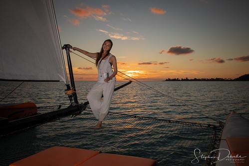 Arisa & Koji - Bora Bora Sunset