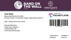 Test Dept @ Band On The Wall, Manchester 18/4/2019 (stillunusual) Tags: testdept manchester bandonthewall concert gig live livemusic music mcr england uk ticket 2019