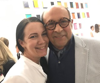 Collectors Adrienne bon Haes and Marvin Ross Friedman at the Margulies collection fundraiser for Lotus House