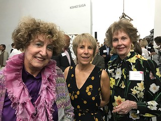 Former Lowe Art Museum director Dahlia Morgan with Fort Lauderdale Museum director Bonnie Clearwater and collector Barbara Schiff at the Margulies collection fundraiser for Lotus House