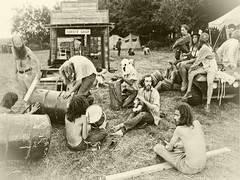 Commemorating the pending 50th anniversary of Woodstock and the briliance of one Tony Margeretti, who had the foresight to set-up a makeshift barber shop at the festival. He made a fortune. (Fotofricassee) Tags: wodstock 50th anniversary hippies hair barber shop