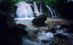 Living in the shadows (Jim Nix / Nomadic Pursuits) Tags: jimnix nomadicpursuits austin bullcreek bullcreekgreenbelt olympusomdem1 nature landscape waterfall creek stream cascade luminar