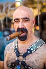 Folsom Street Fair (Thomas Hawk) Tags: america bayarea fsf2016 folsomstreet folsomstreetfair folsomstreetfair2016 soma sanfrancisco usa unitedstates unitedstatesofamerica cigar leather smoking california fav10 fav25 fav50