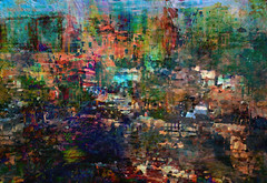 sprawl... (Mark Noack) Tags: light color photoshop layer layering surreal expressionism abstract psychedelic futurist abstraction